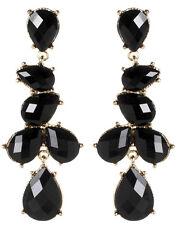 Amrita Singh Real Housewives Gold Black Hamptons Teardrop Earrings ERC 80