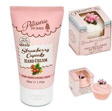 Patisserie De Bain Strawberry Gift Set Hand Cream Cupcake Soap & Bath Melt
