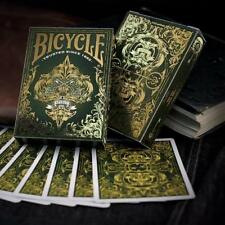 Spirit II Playing Cards Green Edition Gold Embossed Tuck Case Deck