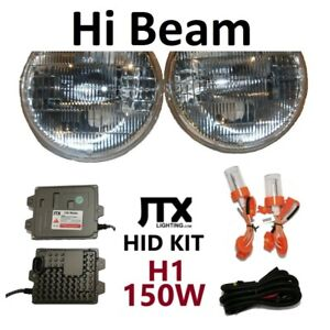 "1pr 5 3/4"" H1 High Beam Headlights + JTX 150W HID suit Falcon XA XB XC XW XY"