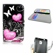 Card Holder Wallet Style Leather Case Cover Pouch For Samsung Galaxy SV S5 I9600