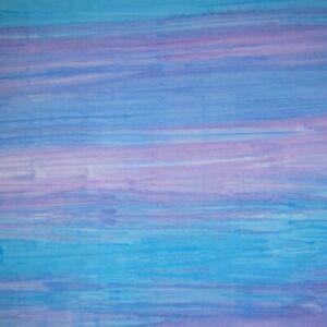 Oasis Batik Fabric - Light Blue & Purple Stripe - Cotton YARD