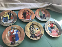 Set of 6 Williams Sonoma Guy Buffet Tuscan Storefronts Salad Plates 8.25""