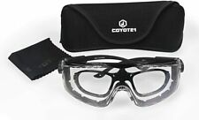 Extreme Coyote1 Adjustable Shooting Safety Glasses with Rx Prescription Insert