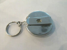 "KEY CHAIN BELT CLIP UNICAN HEAVY DUTY RETRACTABLE PULL 21"" CHAIN ILCO HONG KONG"
