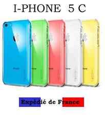 Coque étui housse TRANSPARENTE IPhone 5C silicone gel  + 1 FILM PROTECTEUR