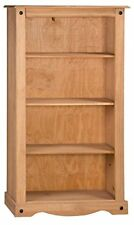 Corona Bookcase Medium 3 Shelf Display Mexican Solid Pine by Mercers Furniture®