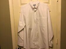 Mens XL Cherokee White Button Down Long Sleeve Shirt Preowned