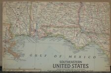 Vintage 1958 National Geographic Map of Southeastern United States