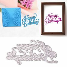 Happy Birthday Metal Cutting Dies Stencils Card Paper Craft Scrapbooking Album