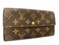 Louis Vuitton Monogram Browns Portefeuille Sarah Long Wallet LV 60020158