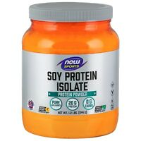 NOW Foods Soy Protein Isolate, Unflavored, 1.2 lb Powder