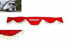 LKW Frontscheibenborde Gardine Vorhänge ROT für IVECO Eurocargo Cursor Stralis