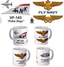 "VF-143 ""Pukin Dogs"" F-4 Phantom or F-14 Tomcat mug."