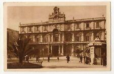 CATANIA PIAZZA DEGLI STUDI UNIVERSITA' EDICOLA CARTOLINA VIAGGIATA ANIMATA 1928