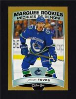 2019-20 UD OPC O-Pee-Chee Gold Border Glossy Marquee Rookie #523 Josh Teves