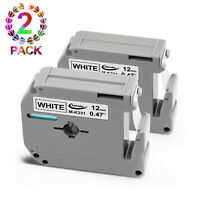 2PK Replacement for Brother P-Touch M Series Label Tape M231 MK231 M-K231 12mm