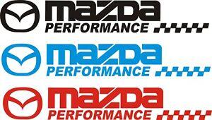 MAZDA SPORT  CAR STICKERS DECAL 385mm x 45mm  RX8 MX5