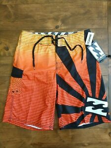 Billabong Andy Irons Rising Sun Board Shorts Size 32 New w/ Tags Boardshorts NWT