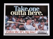 >1990s-2000s JAY BUHNER Seattle Mariners Oregonian Newspaper VENDING BOX SIGN
