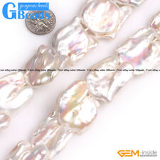 12-13x15-17mm approx Large Hole Graguated Freshwater Baroque Pearl Beads #754
