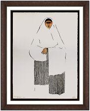 RC Gorman Original Color Lithograph Hand Signed Native American Portrait Artwork