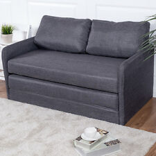 Foldable Sleeper Sofa Bed Couch Loveseat Guest lounge Living Room Furniture Gray