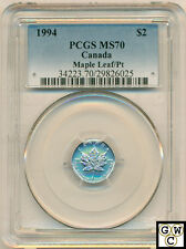 1994 Canadian 1/15oz Platinum Maple Leaf PCGS Certified MS-70!