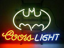 New COORS LIGHT BATMAN Beer Neon Sign 24''x20''