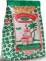 original Real El Nakhleh Coffee Green bag package ARABIC new with Cardamon 250gr