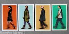 JULIAN OPIE 'Walking II', 2010 Set of 4 Lenticular 3-D Motion Art Postcards NEW!