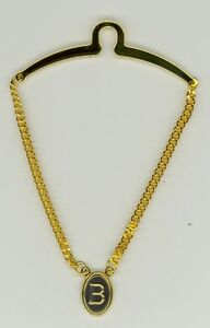 Gold-Plated Initial Tie Chain ~ B ~ Initial 'B' ~ Cable Tie Chain ~ Fathers Day
