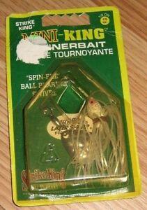 Strike King 1/8 oz. Mini-King Spinnerbait Amorce Tournoyante Fishing Lure *READ*