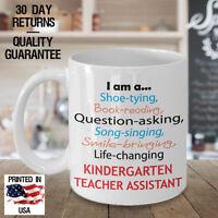 Kindergarten Teacher Assistant Appreciation Gift Coffee Mug - Birthday Christmas