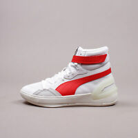 Puma Basketball Hoops Sky Modern White Red New Men Shoes Rare Limited 194042-03