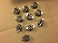 Lot of 10 NOS Cinch 7 pin Brown Vacuum Tube Sockets New Old Stock Radio Repair