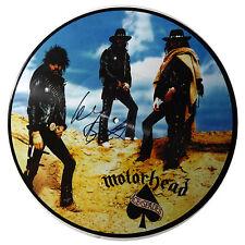 SIGNED LEMMY KILMISTER AUTOGRAPHED MOTORHEAD ACE OF SPADES PICTURE DISC LP W/PIC