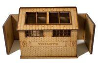 Scalextric Slot Car Buildings - Toilet Block Magnetic Racing 1:32 Standard