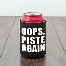 Piste Again Beer Can Cooler/Drinking themed/Skiing/Beer lover/Funny drinks gift