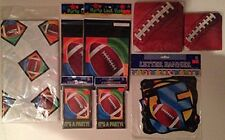 Football Party Packs - Napkins, Loot Bags, Invitation Cards, TableCover & Banner