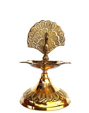 Brass Jyot  Diya Navratri Christmas Aarti Puja Oil Lamp Diwali RELIGIOUS EDH