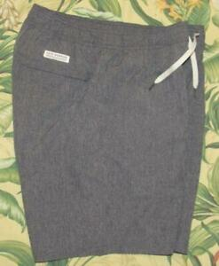 """FAIR HARBOUR Grey The One Short Lined 8"""" Swim Trunks Large L"""