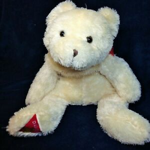 "JUMBO Dakin Plush Bear Ivory Cream Stuffed HUGE Floppy Pillow Teddy 30"" Long"