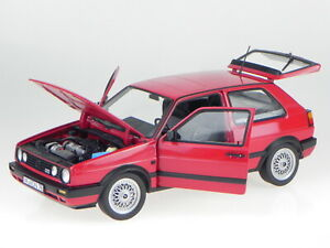 VW Golf 2 GTI 1990 red diecast model car 188438 Norev 1:18