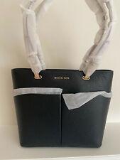 Brand New Michael Kors Bedford Medium Pebbled Leather Tote Black