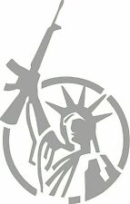 Statue of Liberty Sticker Deacal Guns 4X4 Decal Funny 2A Smith Ammo AR 15 YETI