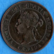 Canada 1895 1 Cent One Large Cent Coin - Very Fine