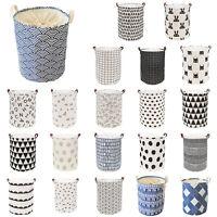 Foldable Laundry Basket Washing Clothes Storage Bag Bathroom Organizer Holder UK