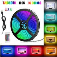 1M-5M RGB USB LED Streifen TV Hintergrundbeleuchtung Leiste Fernseher Licht-Band