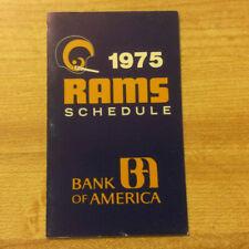 1975 Los Angeles Rams Football Pocket Schedule Original Vintage NFL